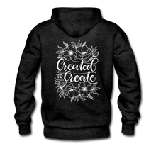 Load image into Gallery viewer, Created to create - Unisex Premium Hoodie - charcoal gray