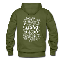 Load image into Gallery viewer, Created to create - Unisex Premium Hoodie - olive green