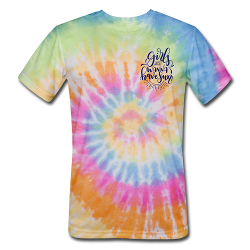 Girls just wanna have SUN - Tie Dye - rainbow
