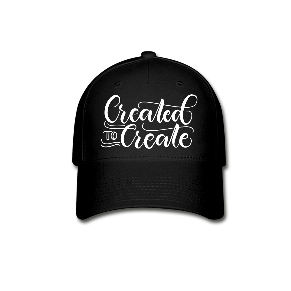 Created to create - Baseball Cap - black