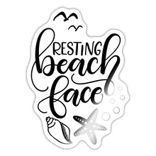 Load image into Gallery viewer, Resting beach face - Sticker - white glossy