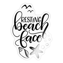 Load image into Gallery viewer, Resting beach face - Sticker - transparent glossy