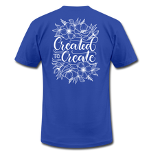 Load image into Gallery viewer, Created to create - Botanical - Unisex Jersey T-Shirt - royal blue