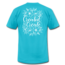 Load image into Gallery viewer, Created to create - Botanical - Unisex Jersey T-Shirt - turquoise