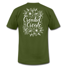 Load image into Gallery viewer, Created to create - Botanical - Unisex Jersey T-Shirt - olive