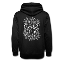 Load image into Gallery viewer, Created to create - Botanical back - Shawl Collar Hoodie - black