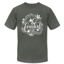 Load image into Gallery viewer, Be fearless - Botanical - Unisex T-Shirt - asphalt