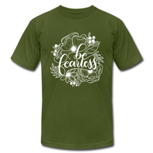 Load image into Gallery viewer, Be fearless - Botanical - Unisex T-Shirt - olive