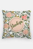 Pillow - Custom name - Blooms - Blush - howjoyfulshop