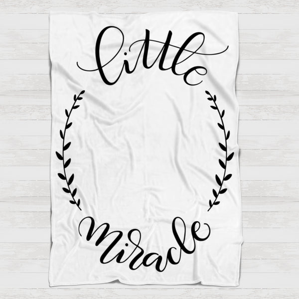 Fleece Blanket - Little miracle - howjoyfulshop