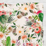 Fleece Blanket - Boho watercolor pattern - howjoyfulshop