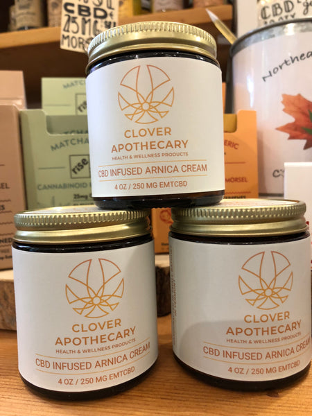 Clover Apothecary CBD infused Arnica Cream -4 oz. All locally sourced ingredients