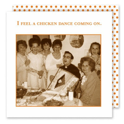 Shannon Martin Cocktail Napkin - Chicken Dance