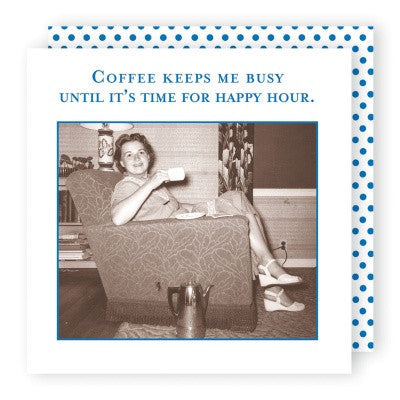 Shannon Martin Cocktail Napkin - Coffee Keeps Me Busy