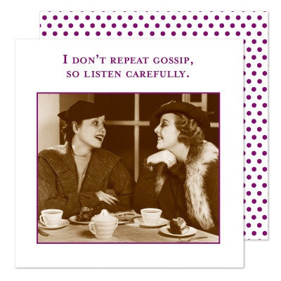 Shannon Martin Cocktail Napkin - I Don't Repeat Gossip