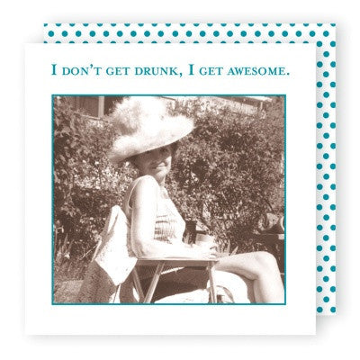 Shannon Martin Cocktail Napkin - I Get Awesome