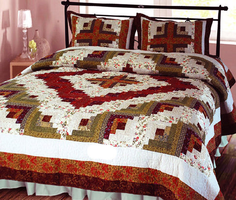 Log Cabin Quilt Set