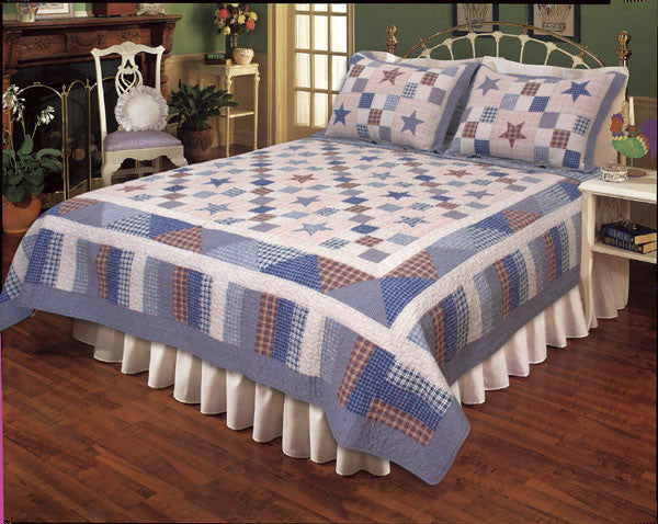 Nostalgia Blue Quilt Set