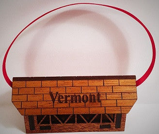 Locally Made Woodstock Vermont Cover Bridge Ornament
