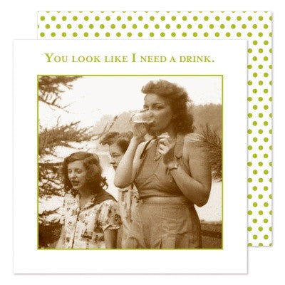 Shannon Martin Cocktail Napkin - You Look Like I Need A Drink