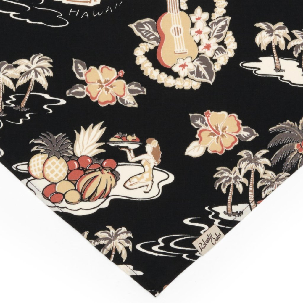 ROBERTA OAKS - PET GLORY DAYS BLACK BANDANA