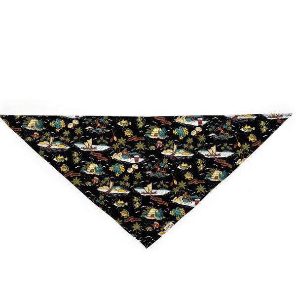 ROBERTA OAKS - HUMU HONOLULU BLACK BANDANA