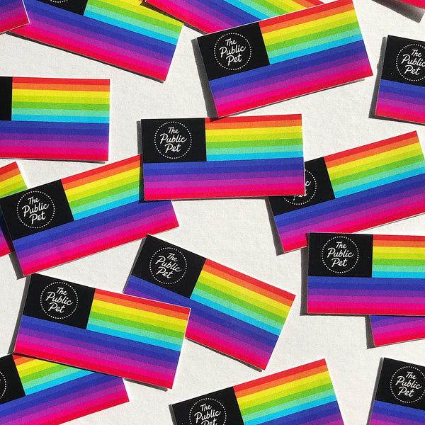 The Public Pet Pride Flag Sticker