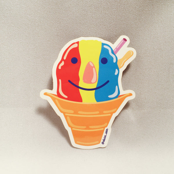Okaa_san Shave Ice Sticker