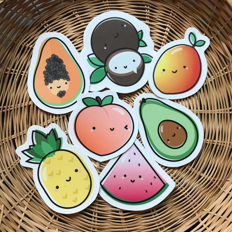 Riskit Design Fruit Basket Sticker Set