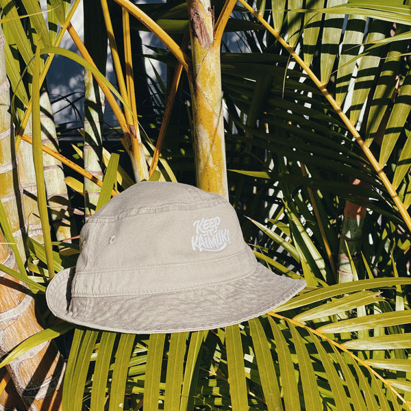 Keep it Kaimuki Tan Bucket Hat