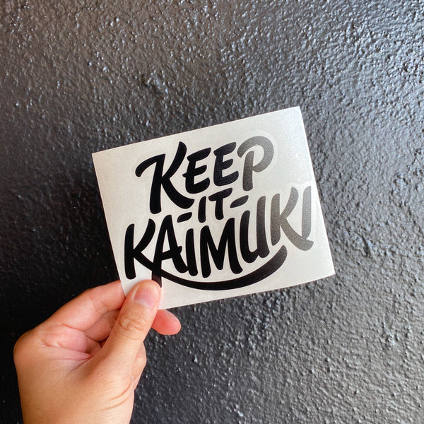 Keep It Kaimuki Decal - BLACK