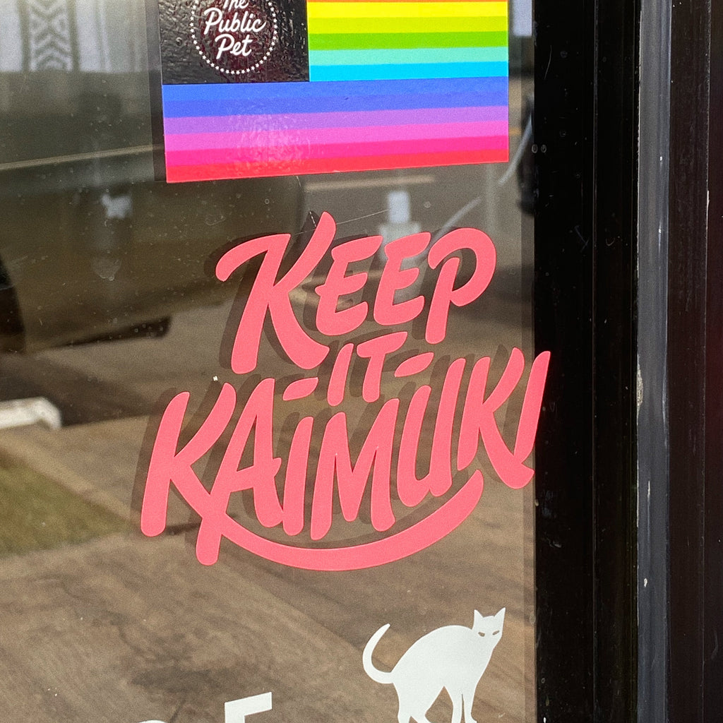 Keep It Kaimuki Decal - GUAVA PINK
