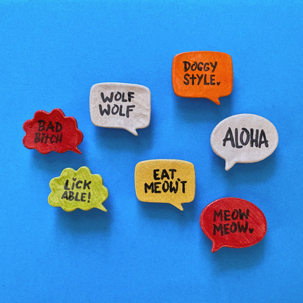 Dee Oliva Speech Bubble Pin