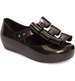 Mini melissa black triple bow