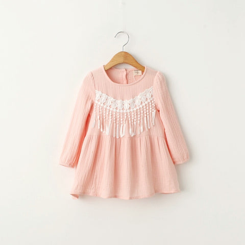Lacey Tassel Dress - Little Livey - 1