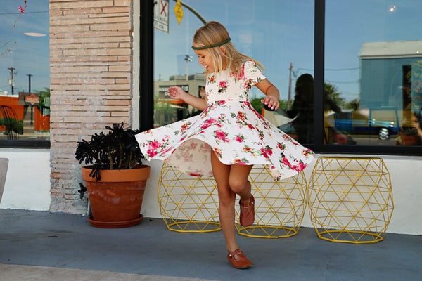 Fit & Flare Dress- Red Floral
