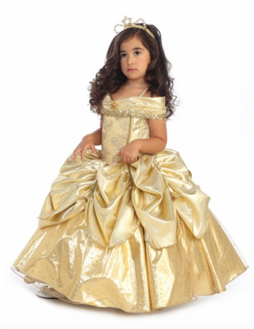 Belle Gold Costume Dress Girls