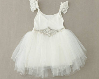 Gianna White Tutu Dress - Little Livey - 1