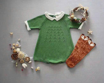 Peter Pan Knitted Romper - Little Livey - 1