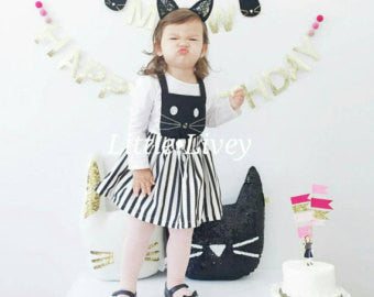 Kitty Cat Meow Dress - Little Livey - 3