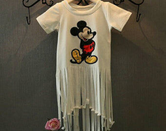 Mickey Mouse Fringe Top - Little Livey - 1