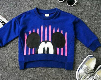 Mickey Cropped Sweatshirt - Little Livey - 1