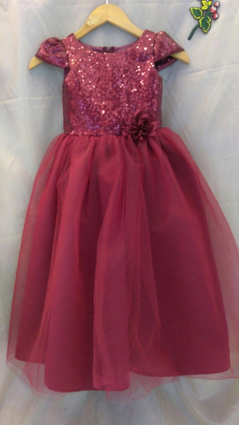 Burgandy flower girl dress maroon sequin flower girl dress special occasion jr bridesmaids toddler dress gold