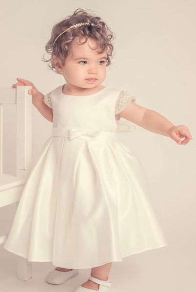 Christening Dress/Baptism bautizo blessing gown/baby baptism gown/Girls First Communion satin gown presentation baby