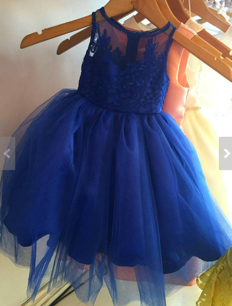 Various colors Embroidered Lace oversized bow tutu dress princess dress birthday dress blue dress flower girl couture dress
