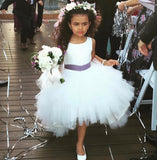 Vanessa Dress - Hi lo tulle dress flower girl color sash custom colors jr bridesmaid baby tulle poofy white ivory classic birthday blush