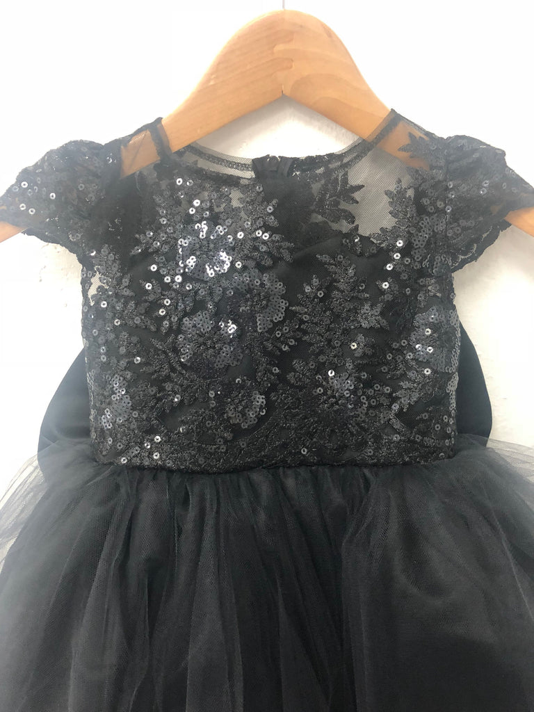 f1c03fcb9 ... Nora Dress- Sequin Sheer Lace bow tutu dress princess dress birthday  dress blue dress flower ...