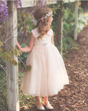 Mallory Dress- vintage flower girl rustic formal classy dress champagne ivory white baby flower girl toddler lace tulle
