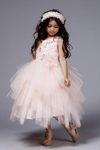 ed36c8a40f Lola Dress- Sequin Tulle Dress flowergirl jr bridesmaid Special Occasion  Gold Ivory Blush toddler