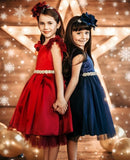 Carrie Dress- cap sleeve dress flower girl special occasion red navy hunter green fancy